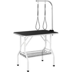 Yaheeteh 36-in Dog & Cat Grooming Table, Black