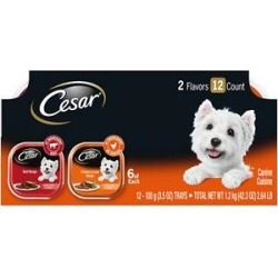 Cesar Classic Loaf in Sauce Beef & Chicken & Liver Recipes Variety Pack Dog Food Trays, 3.5-oz, case of 12 found on Bargain Bro Philippines from Chewy.com for $9.26