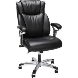 Essentials Series Ergonomic Executive Bonded Leather Office Chair, in Black - OFM ESS-6046-BLK found on Bargain Bro India from totally furniture for $162.97