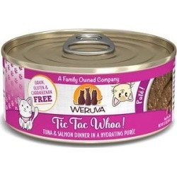 Weruva Classic Cat Tic Tac Whoa Tuna & Salmon Pate Canned Cat Food, 5.5-oz can, case of 8