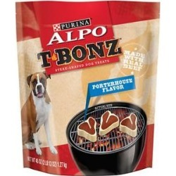 ALPO T-Bonz Porterhouse Flavor Dog Treats, 45-oz bag found on Bargain Bro India from Chewy.com for $8.99