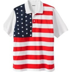 Men's Big & Tall KingSize Americana Polo in Flag (3XL) Cotton found on Bargain Bro India from King Size Direct for $32.98