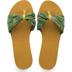 Havaianas Women's Sandals BURNT - Burnt Yellow Floral Saint Tropez Sandal - Women found on MODAPINS from zulily.com for USD $24.88