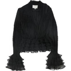 Alexis Womens Smocked Ruffled Blouse, Black, Small (Black - S), Women's(silk) found on MODAPINS from Overstock for USD $272.91