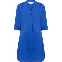 Linen Decima Dress In Dazzling Blue - Blue - Pink House Mustique Dresses found on Bargain Bro from lyst.com for USD $160.36