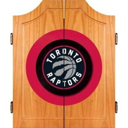 Trademark Global NBA Wood Dart Cabinet Set in Brown/Gray, Size 25.0 H x 22.0 W x 2.0 D in   Wayfair NBA7000-TR found on Bargain Bro Philippines from Wayfair for $139.95