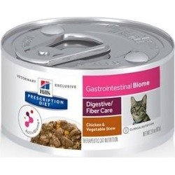 Hill's Prescription Diet Gastrointestinal Biome Digestive/Fiber Care Chicken & Vegetable Stew Canned Cat Food, 2.9-oz, case of 24 found on Bargain Bro from Chewy.com for USD $31.91