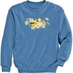 Women's Finches Graphic Sweatshirt, Columbia Blue/Finches L Misses found on Bargain Bro Philippines from Blair.com for $24.99
