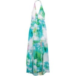 Chiffon Halter Neck Maxi Dress - Blue - Bebe Dresses found on Bargain Bro India from lyst.com for $60.00