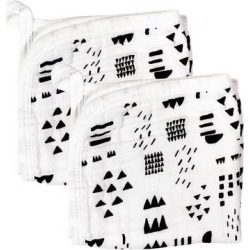 HONEST BABY CLOTHING Organic Cotton Triple Layer Woven Wash Cloths, White found on Bargain Bro from Kohl's for USD $5.31