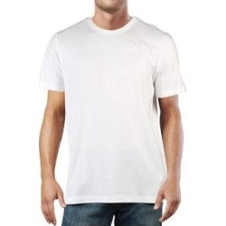 Puma Mens T-Shirt Running Fitness (Puma White - S), Men's(cotton) found on Bargain Bro from Overstock for USD $10.75