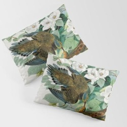 King Size Pillow Sham | Carolina Turtle Dove, Birds Of America By John James Audubon by Vintagearchive - STANDARD SET OF 2 - Cotton - Society6 found on Bargain Bro from Society6 for USD $30.39