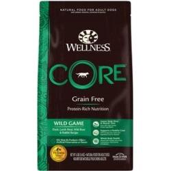 Wellness CORE Grain Free Wild Game Duck, Turkey, Boar & Rabbit Recipe Dry Dog Food, 4-lb bag
