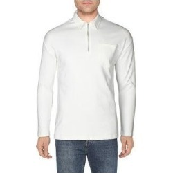 Calvin Klein Mens Polo Shirt Collared 1/4 Zip - Cannoli Cream (XS), Men's, Cannoli Ivory(cotton) found on Bargain Bro from Overstock for USD $27.75