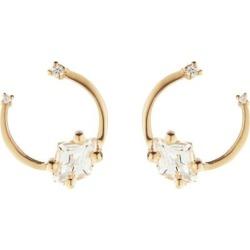 Diamond, Topaz & 14kt Gold Earrings - Metallic - Suzanne Kalan Earrings found on Bargain Bro from lyst.com for USD $501.60