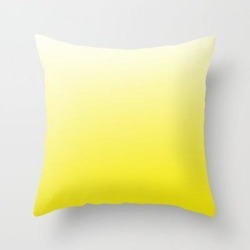 """Simply Sun Yellow Color Gradient- Mix And Match With Simplicity Of Life Couch Throw Pillow by Art By Simplicity Of Life - Cover (16"""" x 16"""") with pillow insert - Indoor Pillow"""