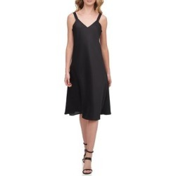DKNY Womens Camisole Sheath Dress Deep Black Size Large L V-Neck (L), Women's(polyester) found on Bargain Bro from Overstock for USD $25.06