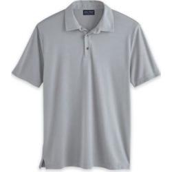Men's John Blair Textured Polo, Gray Mist Grey XL found on Bargain Bro from Blair.com for USD $18.99
