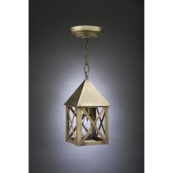 Northeast Lantern York 11 Inch Tall 1 Light Outdoor Hanging Lantern - 7012-AB-MED-CLR