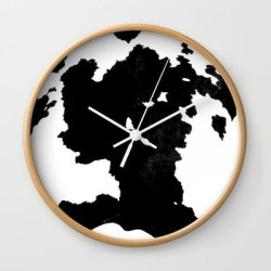 Skins #1 Cow Wall Clock by Jessica Ivy - Natural - White