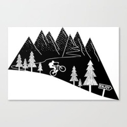 Canvas Print | Mountain Bike Mtb Cycling Mountain Biker Cycling Bicycle Cyclist Gift by Theoutdoorpeople - LARGE - Society6 found on Bargain Bro Philippines from Society6 for $122.49