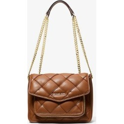 Michael Kors Regina Medium Woven Shoulder Bag Brown One Size found on Bargain Bro Philippines from Michael Kors for $143.40