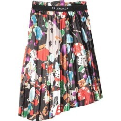 Knee Length Skirt - Black - Balenciaga Skirts found on Bargain Bro Philippines from lyst.com for $826.00