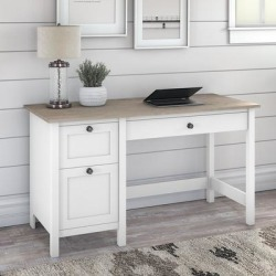 The Gray Barn Orchid Gulch Farmhouse Computer Desk with drawers (Rustic - Rectangular - Medium - Pewter Finish - Computer Desks - White - MDF - found on Bargain Bro from Overstock for USD $222.50