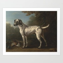 Art Print | A Grey Spotted Hound By John Wootton by Artmasters - X-Small - Society6 found on Bargain Bro India from Society6 for $17.59