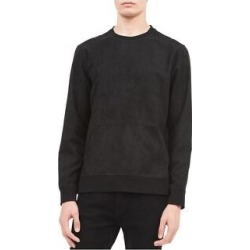 Calvin Klein Mens Faux Suede Sweatshirt (Small), Men's, Black found on Bargain Bro Philippines from Overstock for $49.81