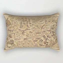 Rectangular Pillow   Magic Map by Dexart8 - Small (17