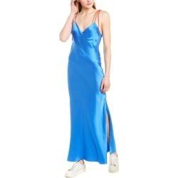 Dannijo Tie Strap Silk Slip Dress (12), Women's, Blue found on MODAPINS from Overstock for USD $208.99