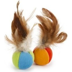 SmartyKat Flutter Balls Feathery Cat Toy found on Bargain Bro India from Chewy.com for $3.49