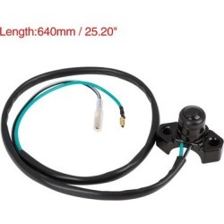 Motorcycle Handlebar Horn Switch Momentary Electric Power Start Button - Black found on Bargain Bro Philippines from Overstock for $18.98