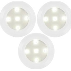 iMounTEK White - Wireless LED Closet Light Puck - Set of Three found on Bargain Bro from zulily.com for USD $9.11