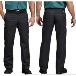 Dickies Men's Flex Regular Fit Straight Leg Work Cargo Pants (Black - 38X32)(cotton) found on Bargain Bro Philippines from Overstock for $32.88