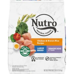 Nutro Natural Choice Chicken & Brown Rice Recipe Large Breed Senior Dry Dog Food, 30 lbs.
