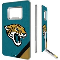 Jacksonville Jaguars Diagonal Stripe Credit Card USB Drive & Bottle Opener found on Bargain Bro from Fanatics for USD $18.99