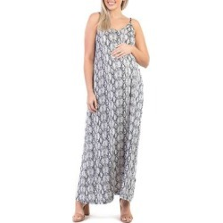 Mother Bee Maternity Women's Maxi Dresses TanBlackSnake - Tan & Black Snake-Print Maternity Sleeveless Maxi Dress found on Bargain Bro Philippines from zulily.com for $19.99