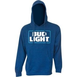 Royal Blue Polyester Bud Light Logo Hoodie (Large), Men's