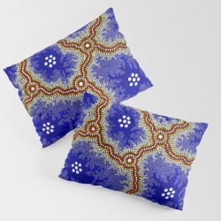 King Size Pillow Sham | Aboriginal Art Authentic - Water Wetlands by Hogarth Arts - Authentic Aboriginal Art - STANDARD SET OF 2 - Cotton - Society6 found on Bargain Bro India from Society6 for $39.99