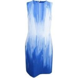 DKNY Women's Draped Scuba Dress (4, True Blue) (True Blue)(polyester) found on Bargain Bro from Overstock for USD $44.45