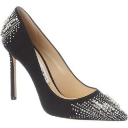Jimmy Choo Romy 100 Suede Pump (37.5), Women's, Black found on MODAPINS from Overstock for USD $1257.29