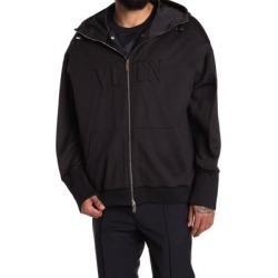 Embossed Vltn Hooded Sweatshirt - Black - Valentino Sweats found on Bargain Bro India from lyst.com for $800.00