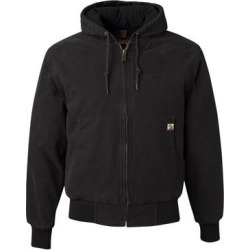 "Cheyenne Hooded Boulder Clothâ""¢ Jacket with Tricot Quilt Lining (Navy - XL), Men's, Blue, Dri Duck(canvas) found on MODAPINS from Overstock for USD $105.78"