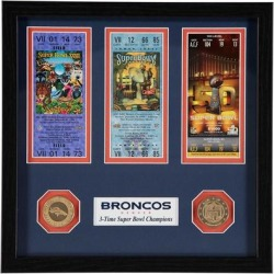 Denver Broncos Highland Mint Super Bowl 50 Champions Ticket Collection found on Bargain Bro from Fanatics for USD $45.59