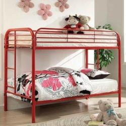Garnett Bunk Bed by Harriet Bee kids in Red/White, Size 56.75 W x 79.0 D in   Wayfair 64E96F08FC924A2A8169D0FC1CB5FB0E