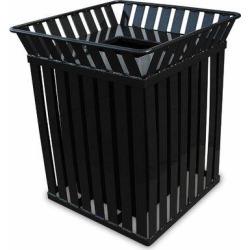 Witt Oakley Receptacle 36 Gallon Trash CanStainless Steel in Black, Size 32.75 H x 28.0 W x 28.0 D in   Wayfair M3601-SQ-FT-BK found on Bargain Bro Philippines from Wayfair for $1363.09