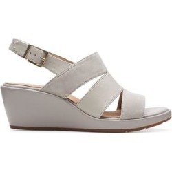 Clarks Women's Sandals Stone - Stone Un Plaza Go Suede Wedge Sandal - Women found on Bargain Bro from zulily.com for USD $21.93