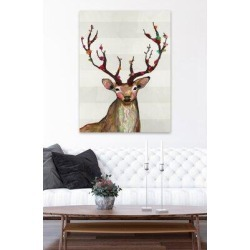 Millwood Pines Rosy Buck on Cream by Eli Halpin - Wrapped Canvas Print Metal in Brown/Gray, Size 40.0 H x 30.0 W x 1.5 D in   Wayfair found on Bargain Bro Philippines from Wayfair for $203.99
